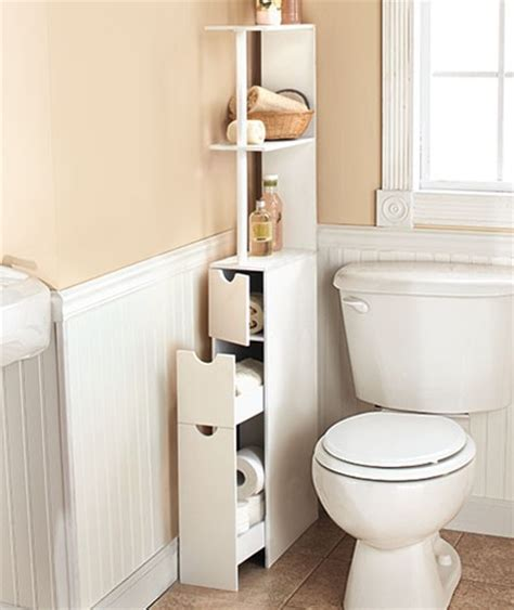 Space Saving Bathroom Furniture New Space Saving Storage Cabinet White Wood Slim Storage Organizer Shelf Ebay