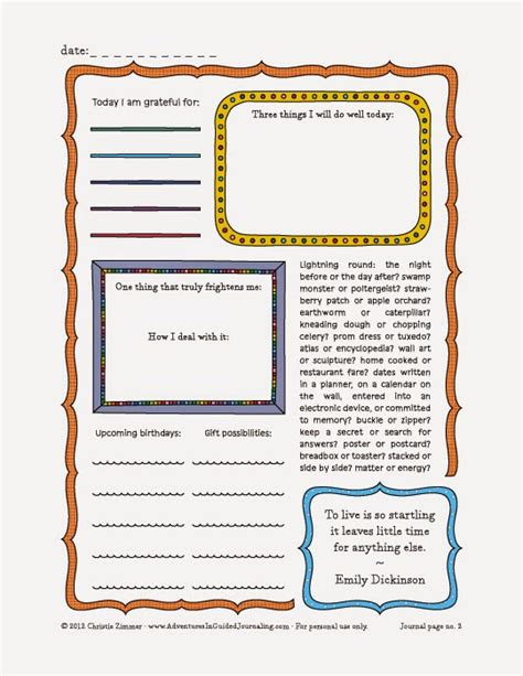 printable control journal pages image gallery journal pages