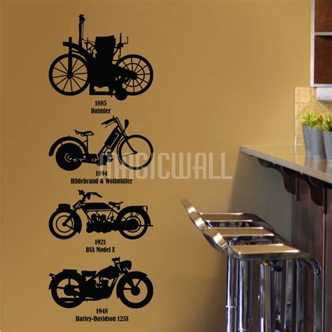 motorbike wall stickers wall decals history motorcycles wall stickers