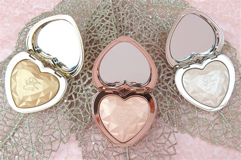 too faced love light highlighter swatches too faced love light prismatic highlighters review