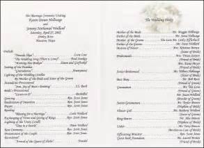 simple wedding programs exles wedding collection nowadays wedding program wording