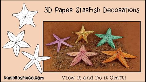 How To Make Starfish With Paper - starfish paper craft decorations view it and do it craft
