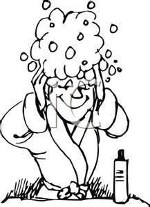 washing hair coloring pages washing hair in colouring pages