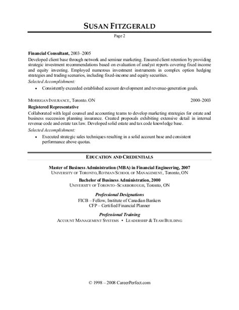 resume objective statement investment banking investment