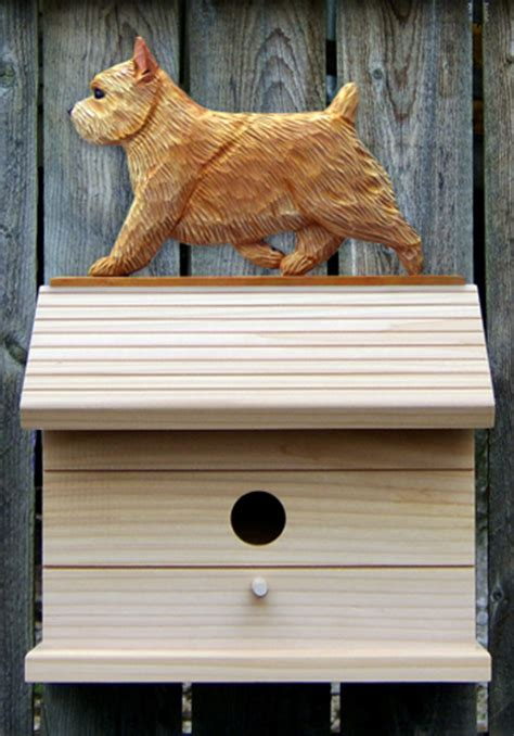 the dog house norwich norwich terrier hand painted dog bird house wheaten