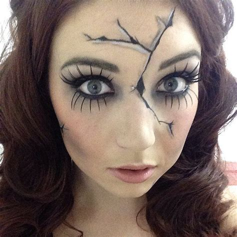 creepy broken doll hair makeup and costume tutorial break the costume mold with these creepy cracked doll
