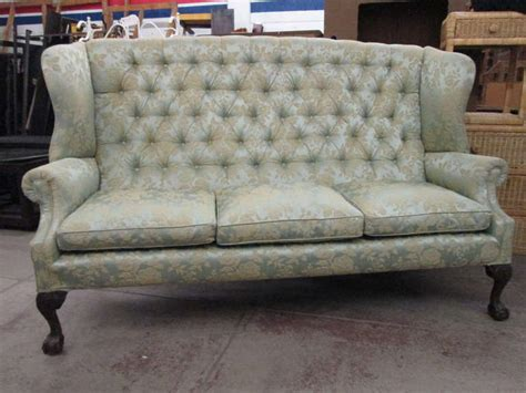 chippendale style tufted high back sofa at 1stdibs