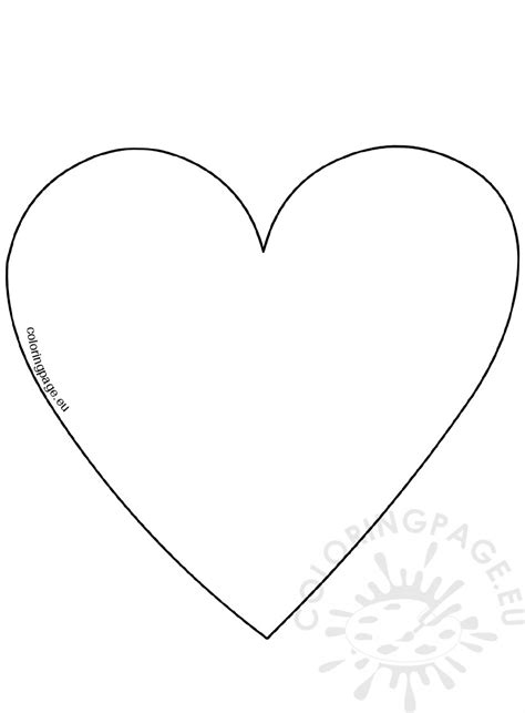 coloring pages of big hearts big heart template image coloring page