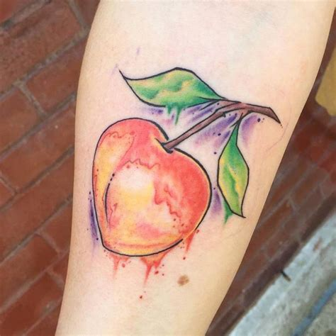 21 peach tattoo designs ideas design trends premium