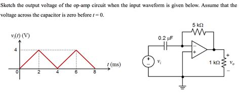 voltage across capacitor t 0 sketch the output voltage of the op circuit wh chegg