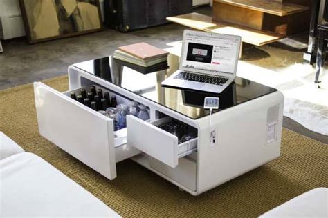 mini fridge coffee table sobro coffee table with built in refrigerator bluetooth