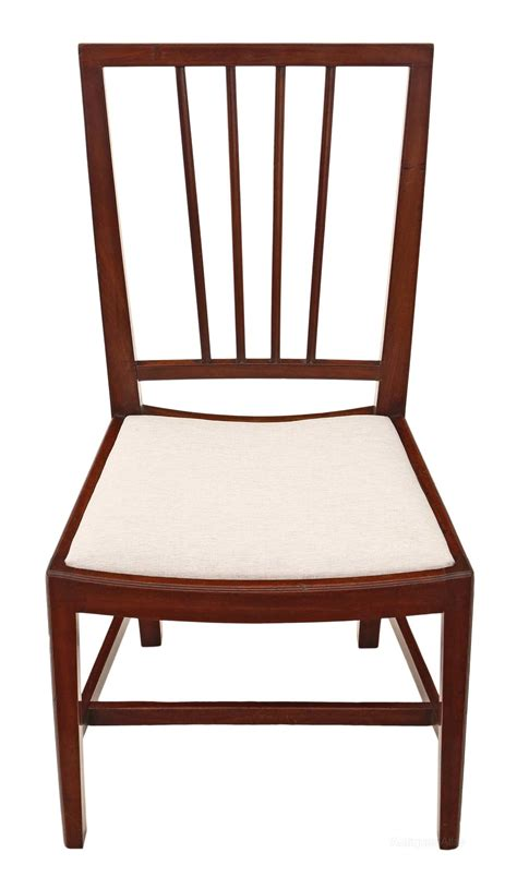 Antique Georgian Dining Chairs by Set Of 4 Mahogany Georgian Dining Chairs Antiques Atlas