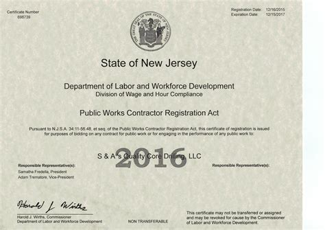 web design certificate new jersey concrete drilling company mine hill nj