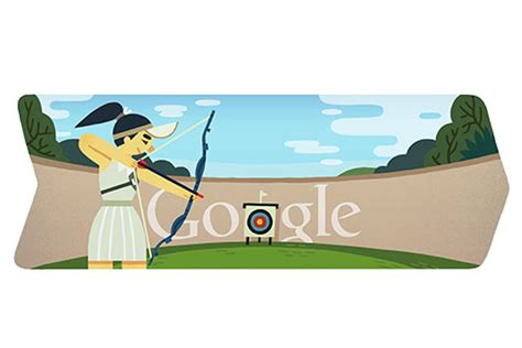 doodle olympic 2012 archery doodle ibnlive