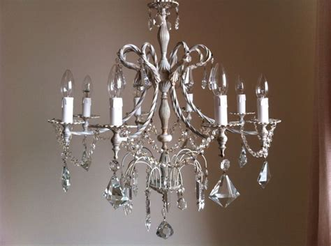 Chic Chandeliers Distressed Shabby Chic Chandelier 8 Arms Chandelier C