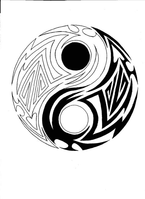 yin yang tribal tattoo tribal yin yang by ranger on deviantart