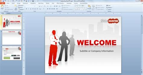 ppt templates for leadership free download free red leadership powerpoint template 16 9 free