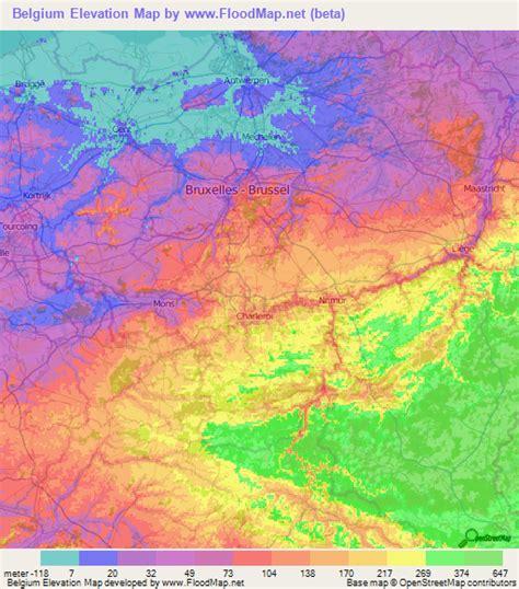 topographic map of belgium belgium elevation and elevation maps of cities