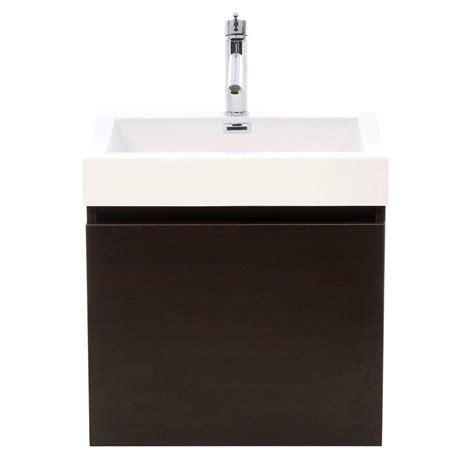 virtu bathroom virtu usa zuri 24 in w vanity in wenge with polymarble
