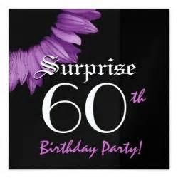 surprise 60th birthday party purple sunflower