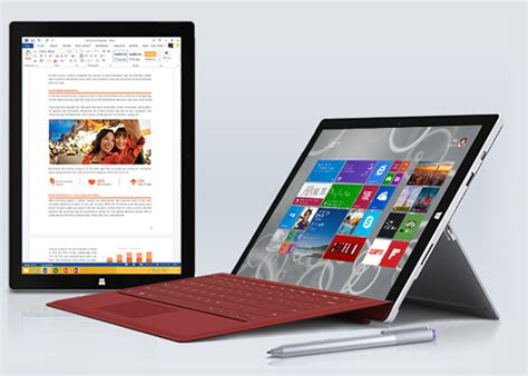 Tablet Microsoft Surface Pro 3 microsoft surface pro 3 complete specifications details