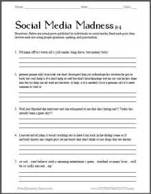 social media madness worksheet 4 fourth free printable
