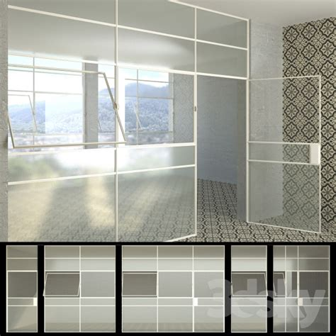 3d Models Windows Set 5 Windows Doors Wired Glass Wired Glass In Doors