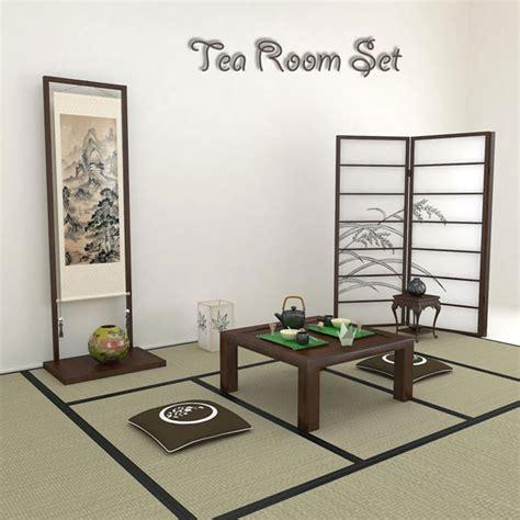 japan furniture japanese 3d model japanese tea room 3d model humster3d