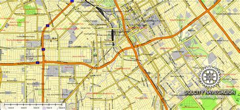 san jose map vector california printable atlas  parts
