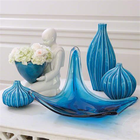 Large Aqua Vase Global Views Squash Vase Aqua Large