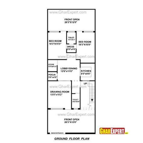 architectural plans naksha commercial and residential house plan for 29 feet by 69 feet plot plot size 222