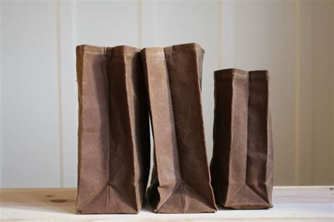 brown paper bag pattern diy quot brown quot bag waxed canvas lunch bag