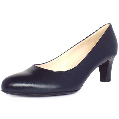 navy shoe kaiser classic court shoe in navy leather