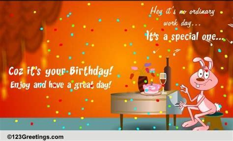 A Special Day At Work! Free Boss & Colleagues eCards