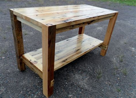 Wooden Kitchen Island Table by Reclaimed Wood Island