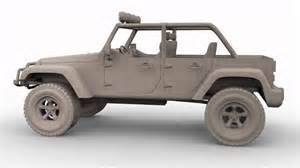 3d max model wrangler jeep