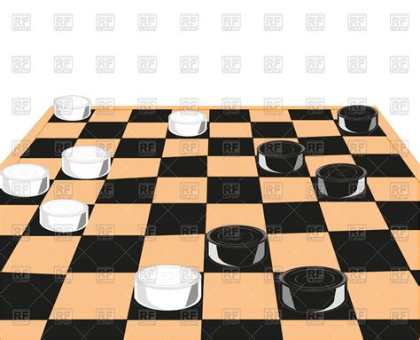 chess clipart chess board and checkers on white background free vector