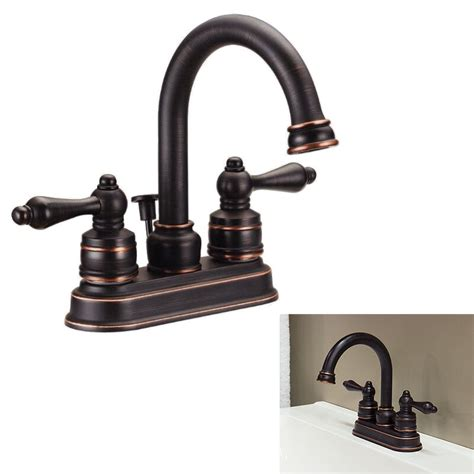 chagne bronze bathroom faucet two handle high arc bathroom vanity faucet swivel spout rubbed bronze 615867185373 ebay