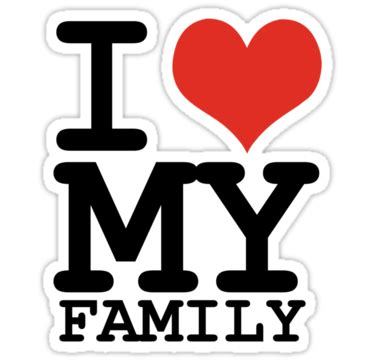 big heart love family pictures quot i love my family quot stickers by wamtees redbubble