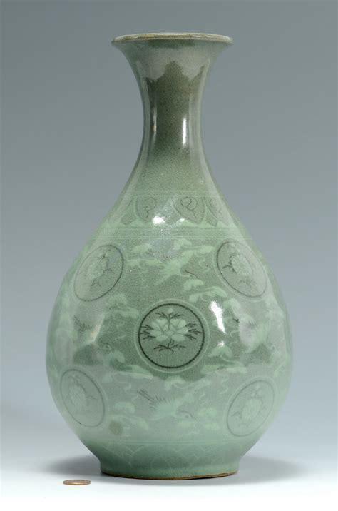 Celedon Vase by Lot 3383177 Korean Celadon Glazed Vase