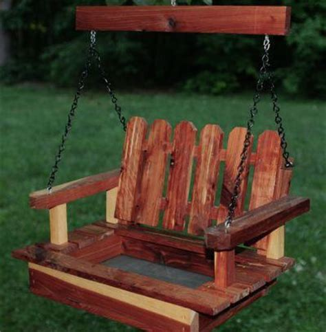 big porch swing big porch swing feeder handcrafted cedar the birdhouse chick