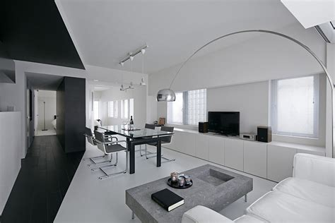white apartment black and white apartment design room 407 project in tokyo homesthetics inspiring ideas