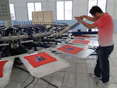 Diy Screen Print India t shirt 8 color 8 station semi automatic rotary screen