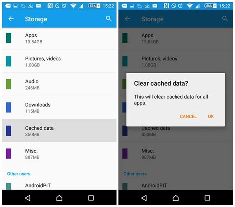 android clear system cache clear app cache or clear app data what s the difference androidpit