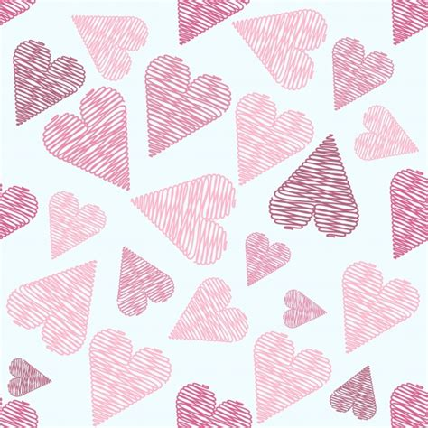 pattern heart vector hearts pattern background vector free download