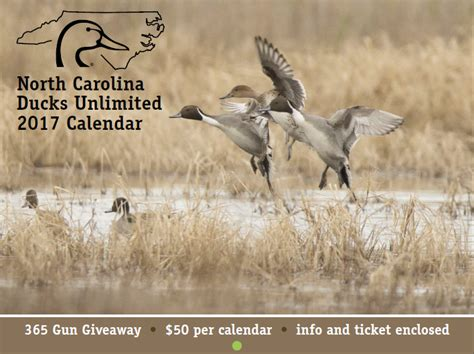 Ducks Giveaways 2017 - north carolina ducks unlimited 187 2017 gun raffle calendars are available