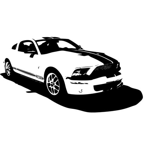 mustang silhouette ford mustang clip 52
