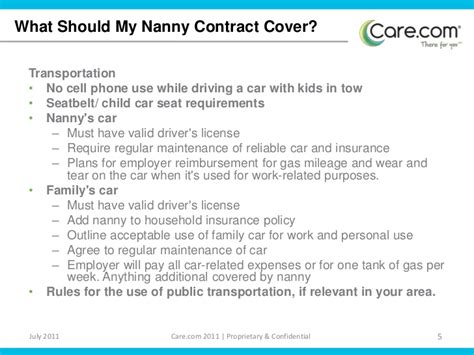 Nanny Contract Sle by Nanny Contract Nanny Contract Sle Confidentiality Agreement Template Confidentiality