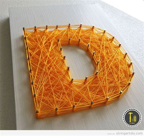 How To Make String Letters - letter d a and a string diy string diy free