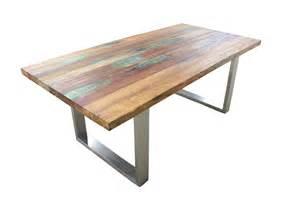 tisch aus tisch aus recyceltem holz der tischonkel